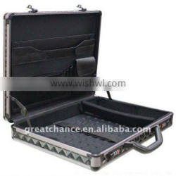 BRAND NEW BLACK ALUMINUM LAPTOP NOTEBOOK ATTACHE HARD CASE