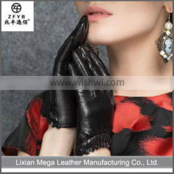 2016 Hot sale Coated women Leather Gloves