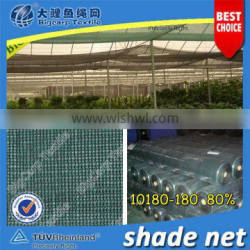 100% Pure HDPE agriculture shading net 80%