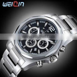 W2237 3ATM water resistant 3 japan movt silver dial ally case stainless steel watch