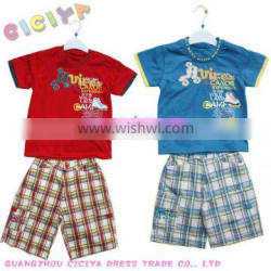 Summer pyjamas boys 2pcs set custom cartoon printed active pyjamas kids