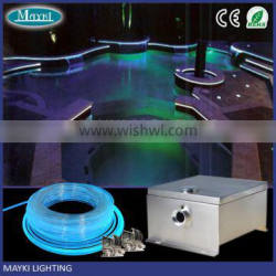 High Brightness Diameter 8mm Entirely Light Glass Optical Fiber for In Outdoor Swimming Pool