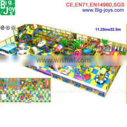 Colorful plastic play structure indoor playground soft play equipment for sale