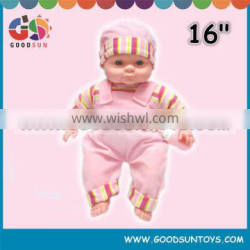 Funny 16 inches soft baby doll male toy cotton doll