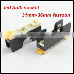 Car accessory led interior light led reading lamp socket led festoon bulb adapter 12v car led bulb socket