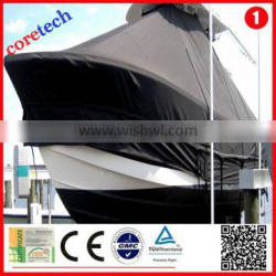 Hot High quality Light Fastness 600d polyester waterproof lightweight boat cover factory