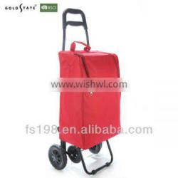 Red folding trolley bag shopping trolley bag with chair