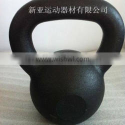 Black fitness cast iron kettlebells