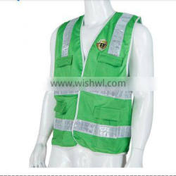whole sale 2016 baihsun high quality reflective material green reflective vest