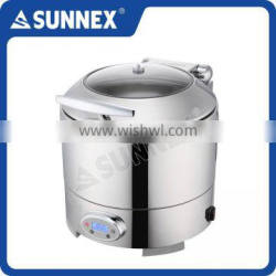 SUNNEX Specialized Luxury Mirror Polished 304 Cover 10 Litre Electric Soup Station