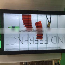 EKAA 55 inch advertising ultra thin transparent lcd monitor for showcase