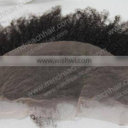 """Wholesale 12'' 1b# Afro curl 100% Indian remy hair 13""""*4"""" lace frontal in stock,accept escrow"""