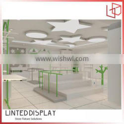 Beatuful decorate clothes display clothing shop interior design