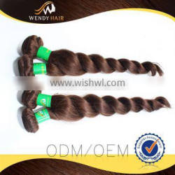 Loose Wave 8 inch virgin remy brazilian hair weft hair bundle with fast delivery