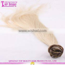 Wholesale best feedback 24 inch clip in human hair extensions double weft clip in human hair extensions for white women