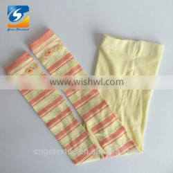 Light yellow custom design baby tights,stripe design baby tights,baby tights