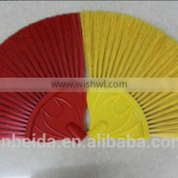 Colourful fan brush with telescopic handle with competitive price