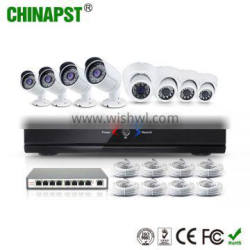 2.0MP HD outdoor p2p weatherproof 1080P NVR h.264 home security 4ch network camera Kit PST-IPK04BH
