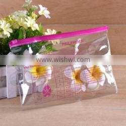 China manufacture wholesale fashional pvc zip lock bag clear pvc pouch with customized printing