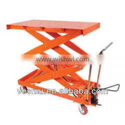 1 ton Hand-hydraulic table truck for plant,warehouse