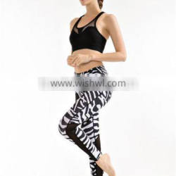 Customized lady indoor sports wear fitness tights yoga pants womens yoga pants