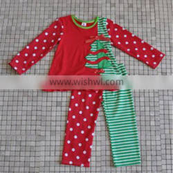 BEST SELLING EUROPEAN GIRLS COTTON CHRISTMAS TREE KIDS CLOTHES