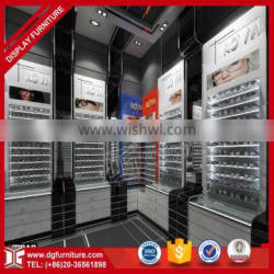 Customized wall mounted retail wooden sunglass display rack