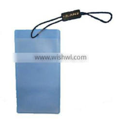 mini PVC plastic cell phone bag with string