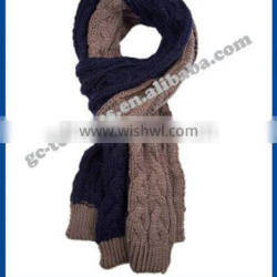 100% acrylic assorted/multi knitted scarf with fashion style