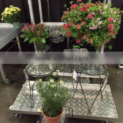 metal flower display rack, stainless display shelf, display tables