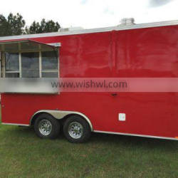 "8'6"" Wide x 16' Long Food Cart Concession Trailer For Sale"