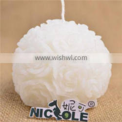 Single Flower Ball Shape Silicone Candle Molds for Wedding