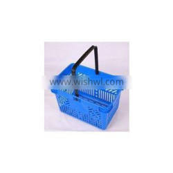 RH-BPH28-12 28L 480*310*250mm special holes plastic shopping basket with single handle