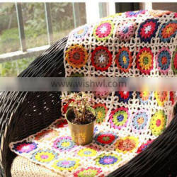 latest floral pattern new design handmade crochet blanket