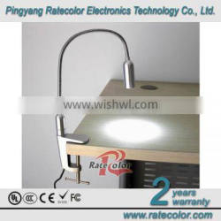 "The latest style aluminum materail energy-saving LED table reading light with the shape ""F"" chip"