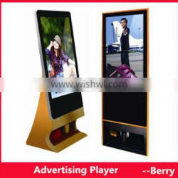 floor standing led advertising player with shoe polisher