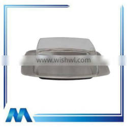 stainless steel butter dish with transparent lid