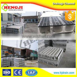 Professional polymer concrete drainage channel with stain steel galvanized grate EN1433 standard outdoor drainage channel