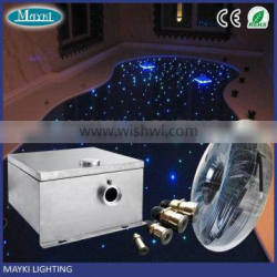 2016 swimming pool using LED fiber optic sky with end glow fiber optic multi strands cable and illuminator