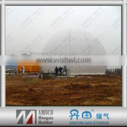 Certificated 2000m3 Spherical Dual Membrane Biogas Storage Equipment with Auto-control System and Data Output