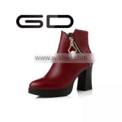 GD luxury noble temperament sexy charming pearl decoration booties shoes for ladies