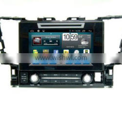 Quad core car gps navigation with wireless rearview camera,wifi,BT,mirror link,DVR,SWC for toyota alphard