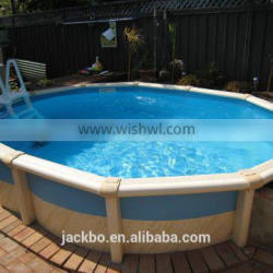2016 Most Popular Oval Galvanized Steel Swimming Pool with PVC Liner Inside