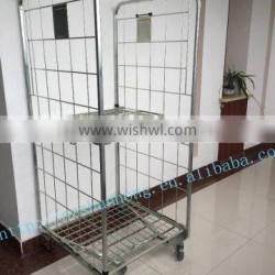 new arrival foldable heavy duty wire mesh roll container