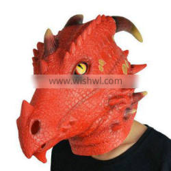 BSCI China Manufacture Latex Dragon Dinosaur Face Mask