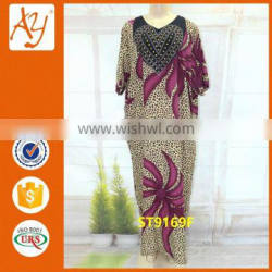 African stone work in dress design kaftans traditional print straight dress