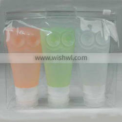 Travel bottles Leak proof 3 oz Set of 3 Carry on shampoo container silicone travel bottles