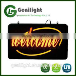 Welcome High Visible LED Neon Light Business Motion Open Sign Chain Switch