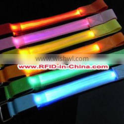 Giveaways RFID Glow in the Dark Wristbands LED Contorlled by Music