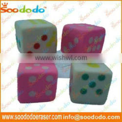 Fancy Dice Shaped Erasers For Promotional Gift